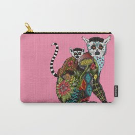 ring tailed lemur love pink Carry-All Pouch