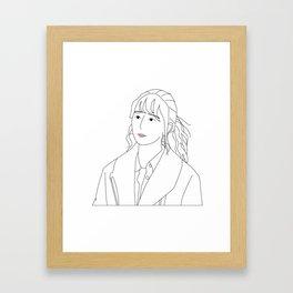 anxious girl Framed Art Print