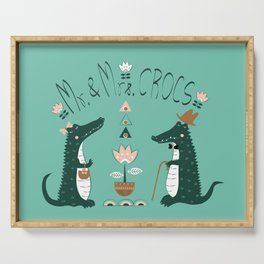 Mr.&Mrs.Crocs Serving Tray