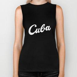 Cuba Baseball Script Béisbol Cuban Castro Viva All Sizes _ Colors softball Biker Tank