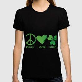 Peace Love Irish St Patrick's Day T-shirt