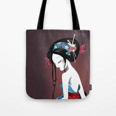 Geisha la blanche Tote Bag