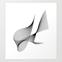 """""""Linear Collection"""" - Minimal Letter H Print Art Print"""