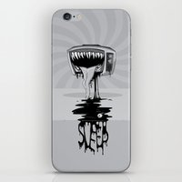 sleep iPhone & iPod Skins featuring Sleep by vsMJ