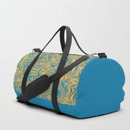 Liquid Swirl - Hawaiian Surf Blue and Citrus Yellow Duffle Bag