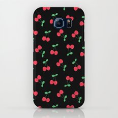 Cherries on Black Slim Case Galaxy S6