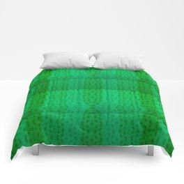 Greenish pattern of borders .. Comforters