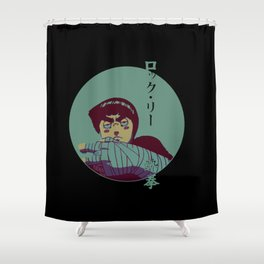 Rock Lee Jutsu Shower Curtain