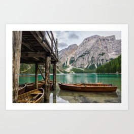 Lake Braies, the Dolomites Photography Print Art Print