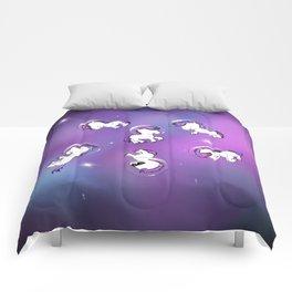 Space Unicorns Comforters