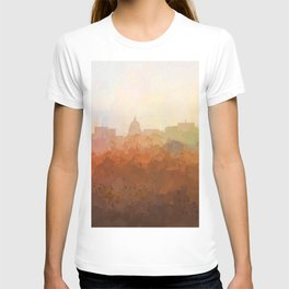 Madison, Wisconson Skyline - In the Clouds T-shirt