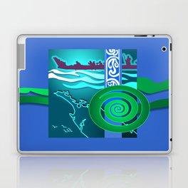 New Zealand Waka Map Laptop & iPad Skin