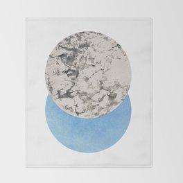 Negative Circles Collage Throw Blanket