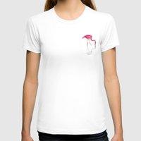 flamingo T-shirts featuring Flamingo by la belette rose