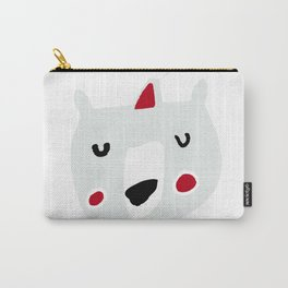 Cute holiday bear white Carry-All Pouch
