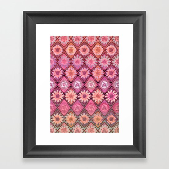Daisy Pinks Framed Art Print