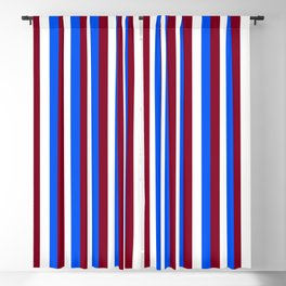 Team Colors 4... maroon,blue and white Blackout Curtain