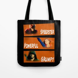 The Speedster, the Powerful, and the Grumpy Tote Bag
