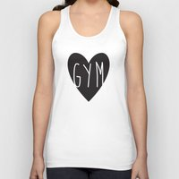 gym Tank Tops featuring gym  by design make create
