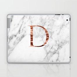Monogram rose gold marble D Laptop & iPad Skin