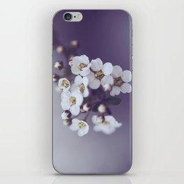 Flower in the mist iPhone Skin