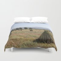 sesame street Duvet Covers featuring Sesame Crop and Harvest by taiche