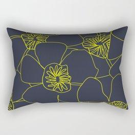 Blooms Everywhere Line Art No 04 Rectangular Pillow