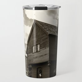 Corwin House - Salem MA - Black and White Travel Mug