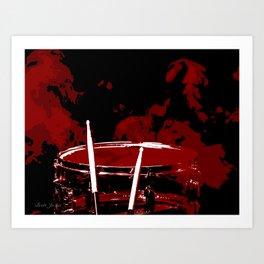 RED SMOKE DARK Art Print