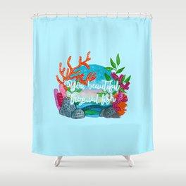 You beautiful, tropical fish Shower Curtain