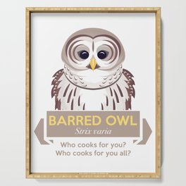 Cry of the Barred Owl Serving Tray