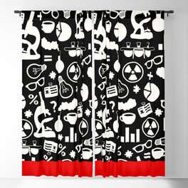 Black and White Science Pattern Blackout Curtain