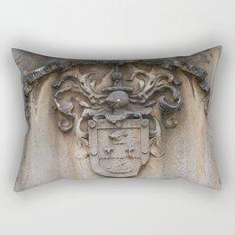 virtute acquiritur honos  Grassmarket Edinburgh Scotland Rectangular Pillow