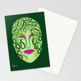 green visage Stationery Cards