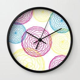 Spiro Blooms Wall Clock