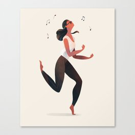 Dancing Girl Canvas Print