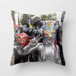 Lucha libre kids Throw Pillow