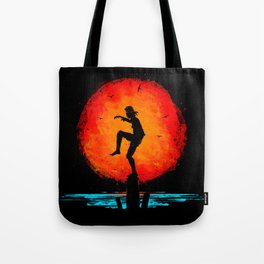 Minimalist Karate Kid Tribute Painting Tote Bag