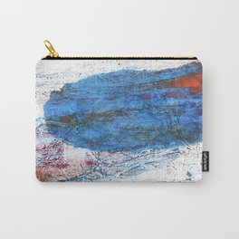 Steel blue colored wash drawing texture Carry-All Pouch