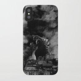 Old Time Godzilla San Francisco Fire iPhone Case