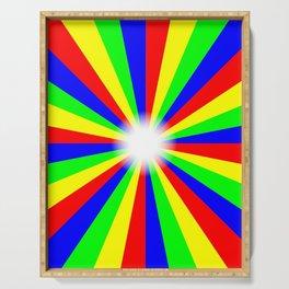 Mulri Colour Bright Ray Background Serving Tray
