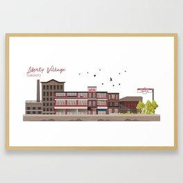 Liberty Village - Toronto Neighbourhood Framed Art Print