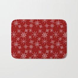 Nordic Snow (Blizzard) - Crimson Bath Mat