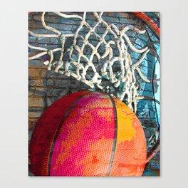 Basketball art swoosh vs 12 Canvas Print