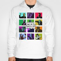grand theft auto Hoodies featuring Grand Theft Diamond Snatchers by Ant Atomic
