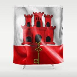 Gibraltar Flag Shower Curtain
