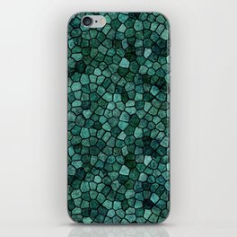 Oceanic Mosaic Crust Texture Abstract Pattern iPhone Skin