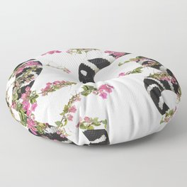 Snake Floral Floor Pillow