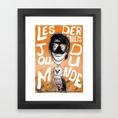 Les derniers jours du monde Framed Art Print