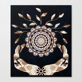 Glowing Soul-Seed Mandala Canvas Print